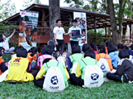Caltex youth camp briefing